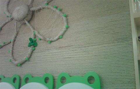 麻绳粘贴画幼儿园