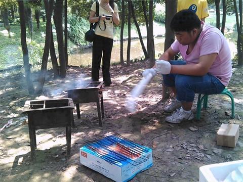 共青森林公园烧烤试吃