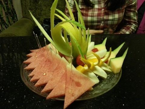 简单好看的西瓜皮雕花图片大全