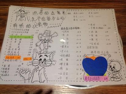 烧烤手绘菜谱图片